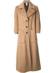 People Classic Long Coat Nude And Neutrals
