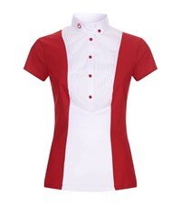 Cavalleria Toscana Pleated Panel Shirt Red