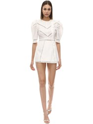 Alice Mccall A Foreign Affair Cotton And Lace Romper White