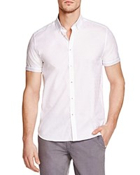 Ted Baker Blomtin Floral Jacquard Regular Fit Button Down Shirt 100 Bloomingdale's Exclusive White