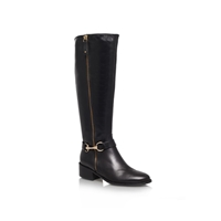 Carvela Waffle Leather Boot Black