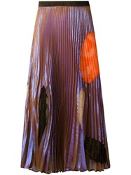 Christopher Kane Translucent Cut Out Skirt Pink Purple