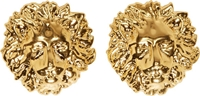 Versus Gold Lion Stud Earrings