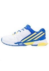 Adidas Performance Volley Team 4 Volleyball Shoes White Bright Yello Blue