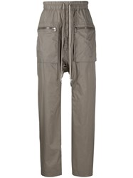 Rick Owens Drkshdw Dropped Crotch Track Trousers Grey