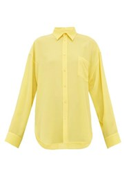 Balenciaga Silk Crepe Blouse Yellow