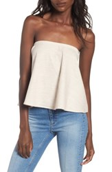 Wayf Women's Strapless Top Natural
