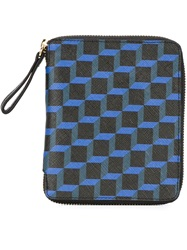 Pierre Hardy Printed Zip Around Wallet Blue