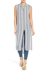 Women's Bobeau Side Slit High Low Long Tunic