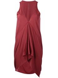 Rick Owens Lilies Draped Sleeveless Top Red