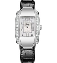 Chopard La Strada 18Ct White Gold Diamond And Alligator Leather Watch