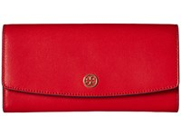 Tory Burch Parker Envelope Continental Wallet Cherry Apple Wallet Handbags Red