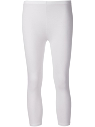 Majestic Filatures Cropped Leggings White