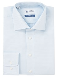 Chester By Chester Barrie Puppytooth Tailored Shirt White Blue