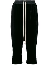 Rick Owens Low Rider Cropped Trousers Black