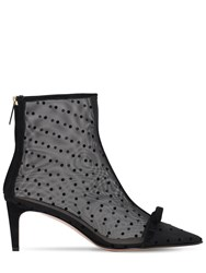 Red Valentino 60Mm Sandie Mesh Ankle Boots Black