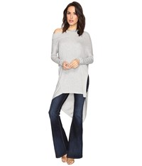 Free People Grapevine Tunic Grey Women's Long Sleeve Pullover Gray