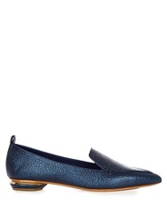 Nicholas Kirkwood Beya Grained Leather Loafers Dark Blue