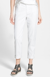 Eileen Fisher Stretch Boyfriend Jeans White Regular And Petite