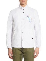 Saks Fifth Avenue X Anthony Davis Coaches Gallery Graphic Print Jacket Gallery White