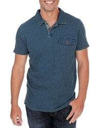 Lucky Brand Cotton Polo Navy