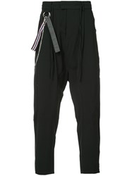 Chapter Drop Crotch Trousers Black