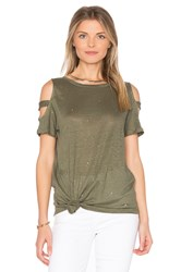 Generation Love Kendall Holes Tee Olive