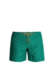 Thorsun Titan Fit Triangle Print Swim Shorts Green