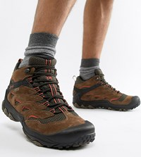 Merrell Chameleon 7 Limit Hiking Festival Boots In Brown Grey