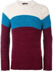 Roberto Collina Woven Contrast Panel Jumper Red
