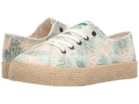 Rocket Dog Madox Green Jungle Palm Women's Lace Up Casual Shoes White