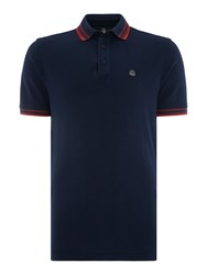 Duck And Cover Vertex Polo Shirt French Navy