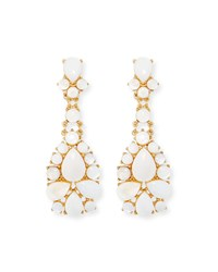 Sequin Mother Of Pearl Statement Earrings Gold