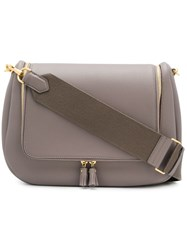 Anya Hindmarch 113939 Porcini Leather Fur Exotic Grey