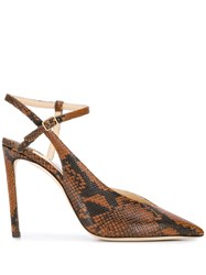 Jimmy Choo Sakeya 100 Pumps Brown