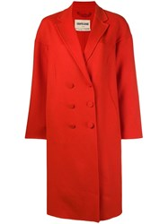 Roberto Cavalli Double Breasted Coat Red