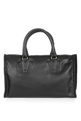 Topshop Heywood Leather Whip Holdall Black