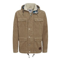 Weird Fish Cord Casual Coat Khaki