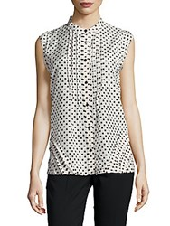 Marc By Marc Jacobs Printed Sleeveless Top Bone Multi