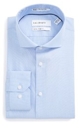 Calibrate Men's Big And Tall Trim Fit Stretch No Iron Dress Shirt Blue Hydrangea
