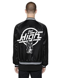 Gcds Get High Printed Satin Bomber Jacket