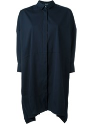 Neil Barrett A Line Shirt Dress Blue