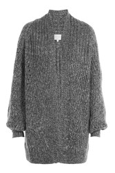 Claudia Schiffer Cardigan With Mohair And Wool Grey