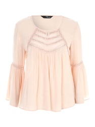Jane Norman Nude Beaded Gypsy Top