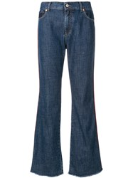 Paul Smith Ps By Cropped Denim Jeans Blue