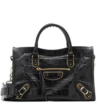 Balenciaga City S Leather Tote Black