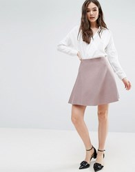 Lavand Knitted Skater Skirt In Pink Nude