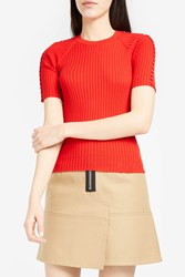 Alexander Wang Women S Ring Trimmed Top Boutique1 Red