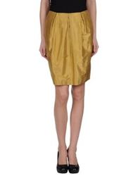 Alberto Biani Knee Length Skirts Sand