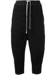 Rick Owens Drkshdw Drop Crotch Cropped Trousers